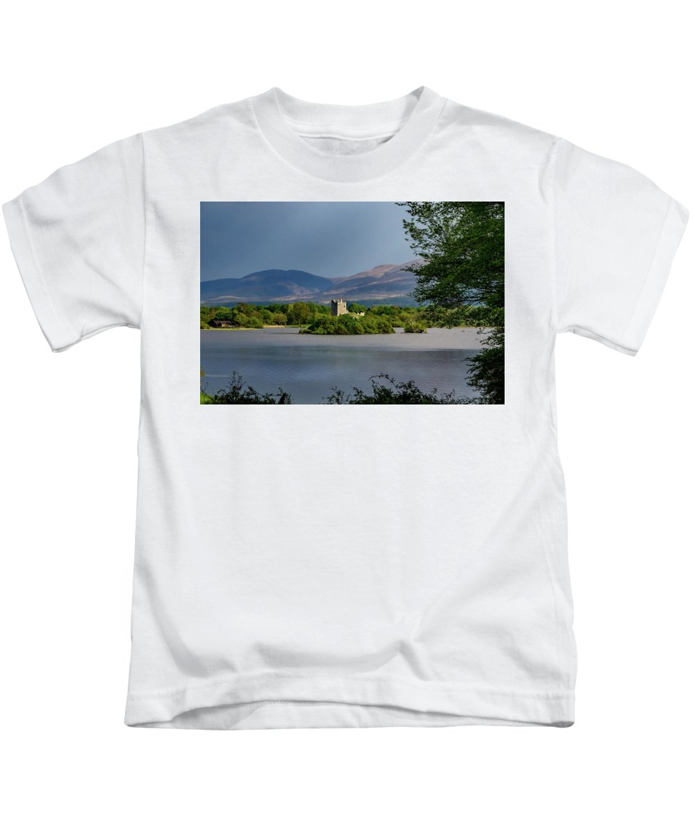 Innisfallen Kids T-Shirt featuring the photograph Lough Leane by Mark Llewellyn