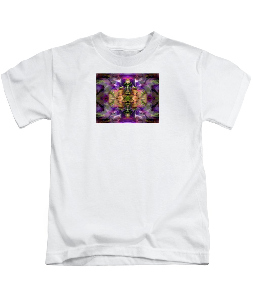 Abstract Kids T-Shirt featuring the digital art Mind Portal by Lynda Lehmann