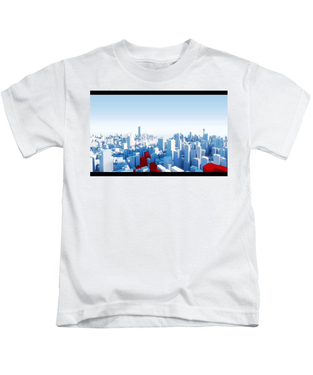 Mirror's Edge Kids T-Shirt featuring the digital art Mirror's Edge by Dorothy Binder