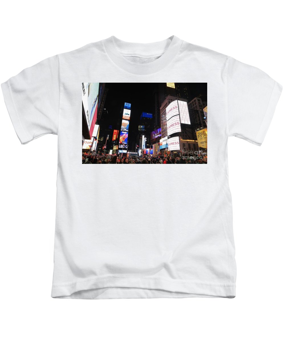 Destination Kids T-Shirt featuring the photograph Nyc Times Square by Douglas Sacha