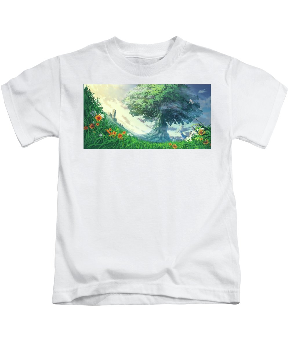 Original Kids T-Shirt featuring the digital art Original by Dorothy Binder