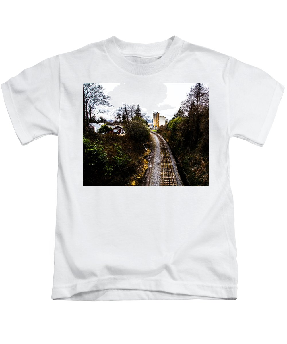 Kids T-Shirt featuring the photograph Railroad by Angus Hooper Iii