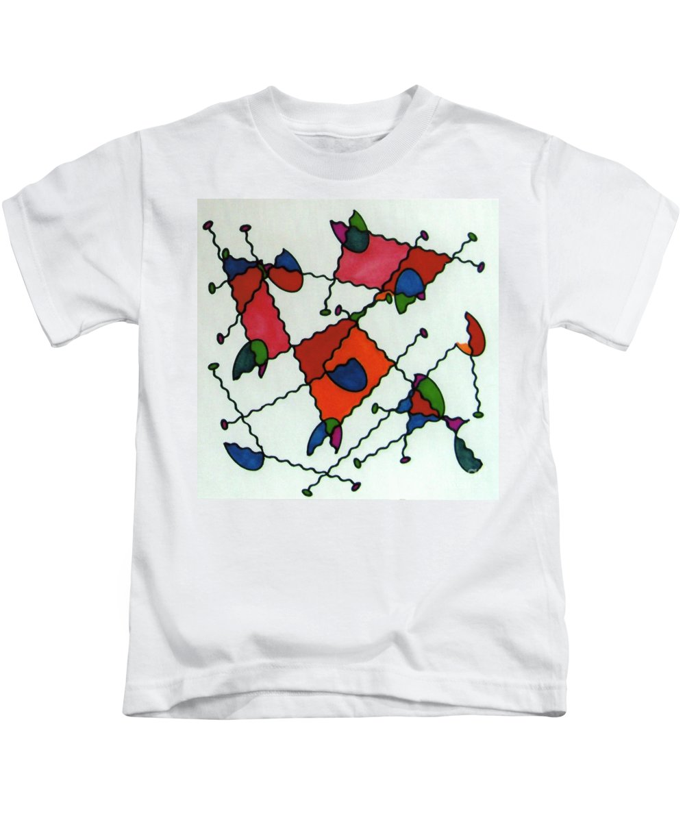 Ladybugs Kids T-Shirt featuring the drawing Rfb0581 by Robert F Battles