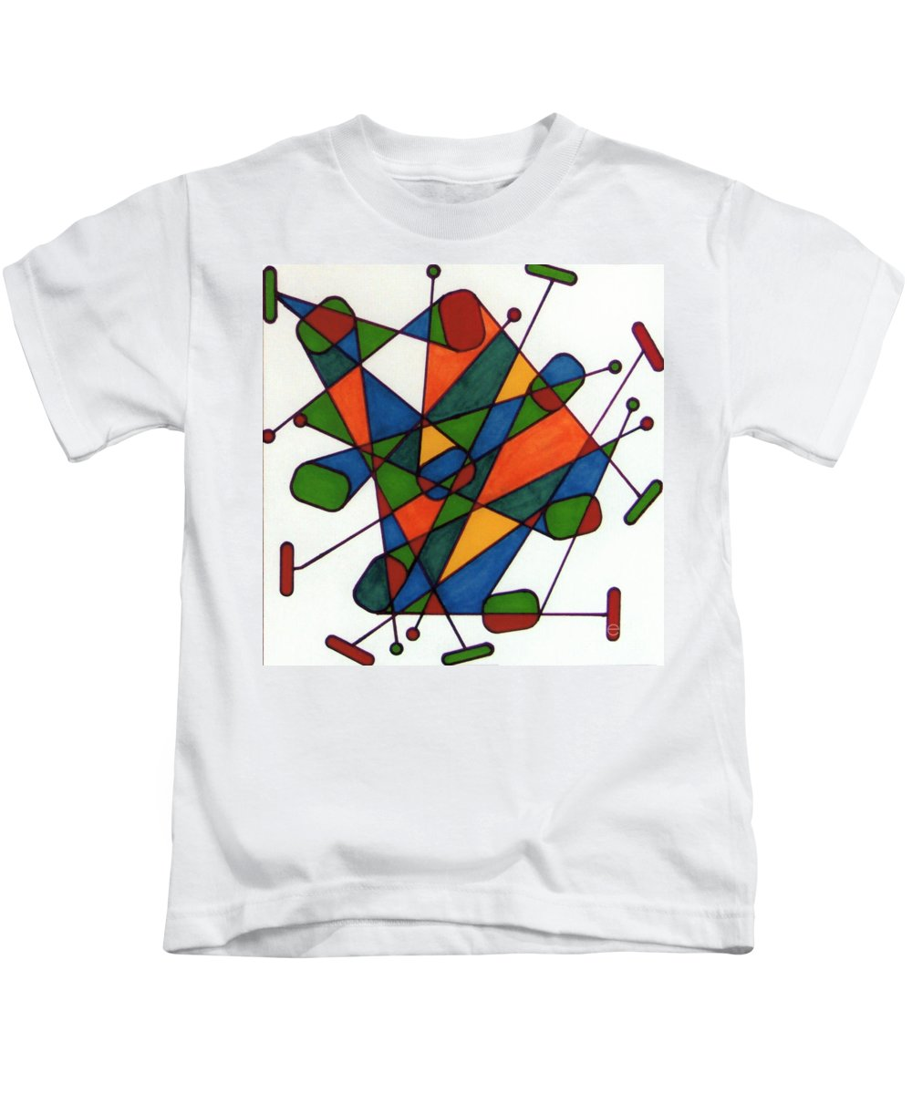 Kids T-Shirt featuring the drawing Rfb0590 by Robert F Battles