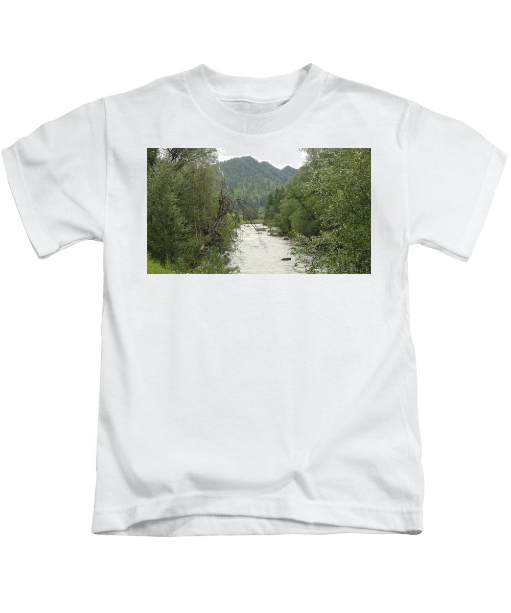 River Kids T-Shirt featuring the digital art River by Dorothy Binder
