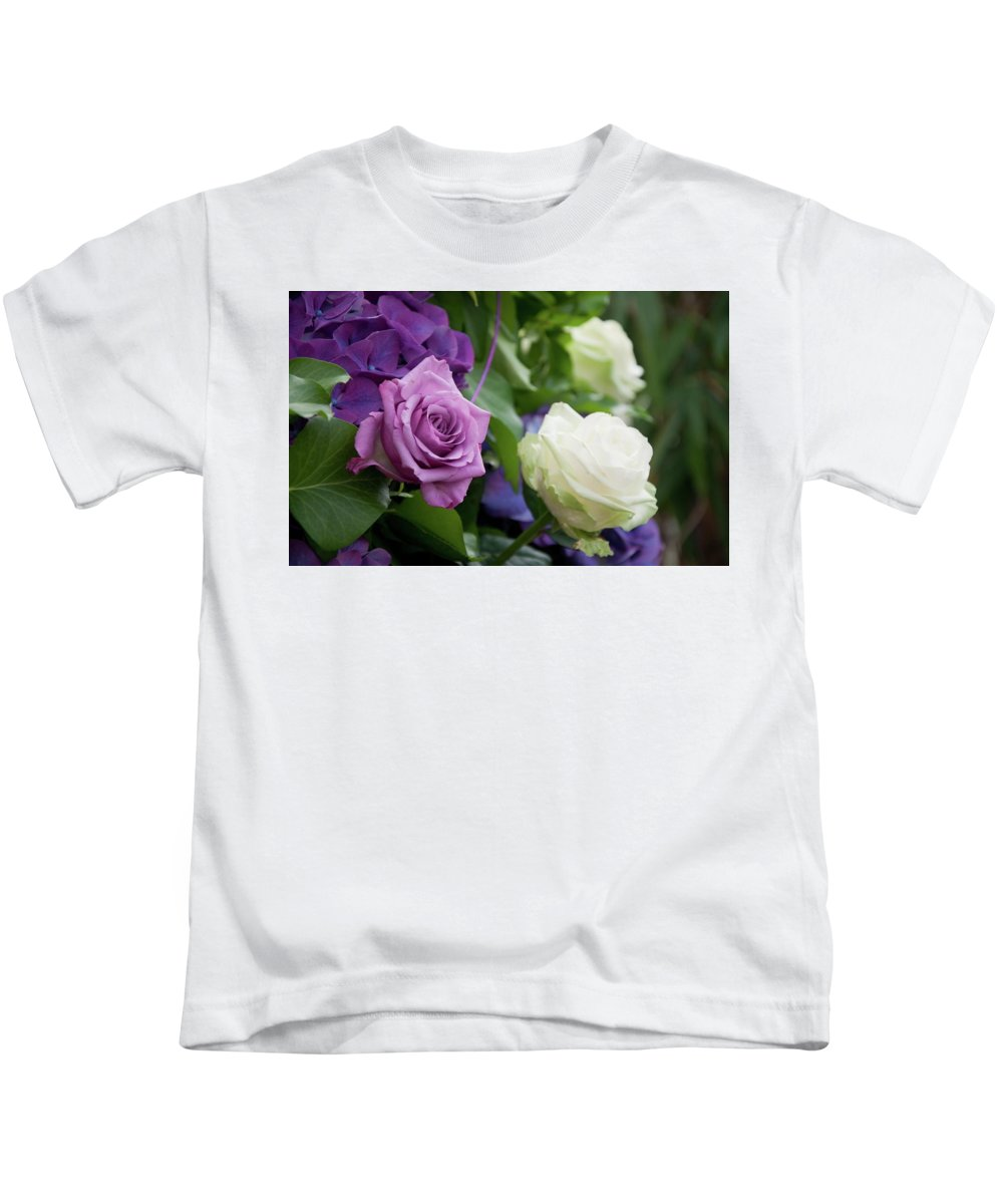 Rose Kids T-Shirt featuring the digital art Rose by Dorothy Binder