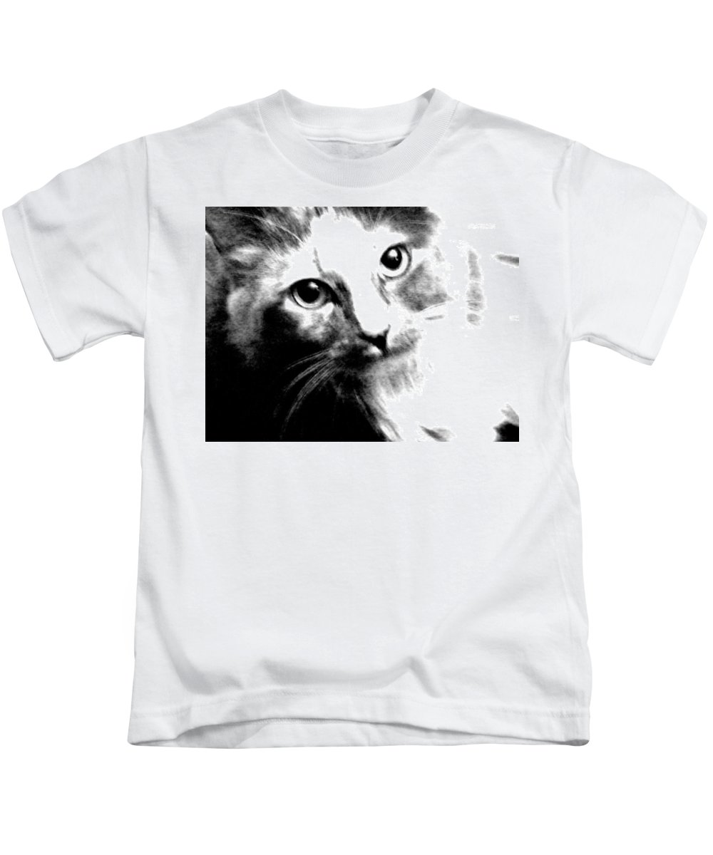 Abstract Kids T-Shirt featuring the photograph Shelby by Lenore Senior