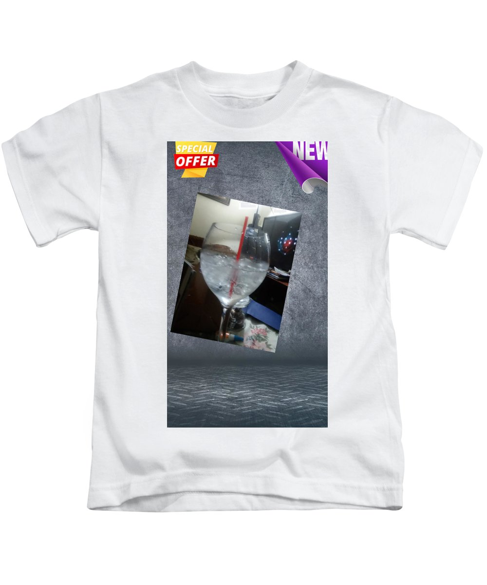 Kids T-Shirt featuring the photograph Soda World by Jamie Warren
