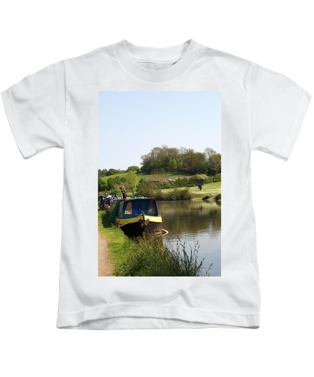 Stockers Kids T-Shirt featuring the photograph Springtime By The Canal by Chris Day