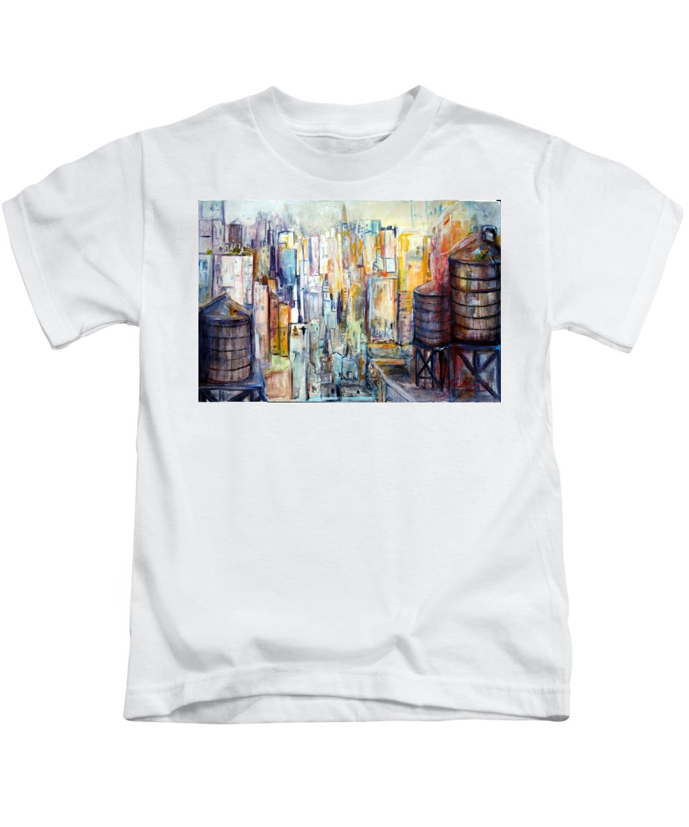 Jack Diamond Kids T-Shirt featuring the painting Tanks For The Memories by Jack Diamond