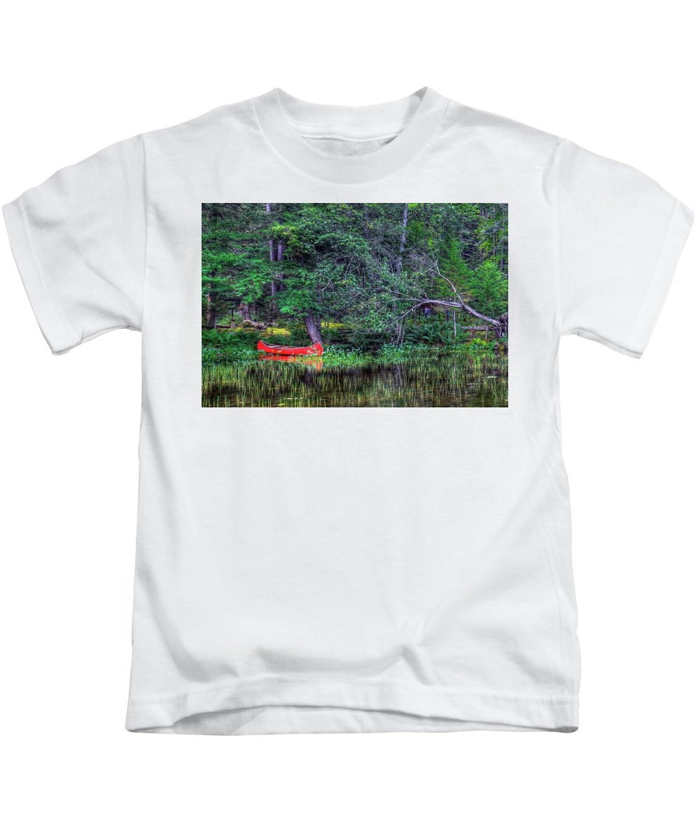 The Canoe Kids T-Shirt featuring the photograph The Canoe by David Patterson