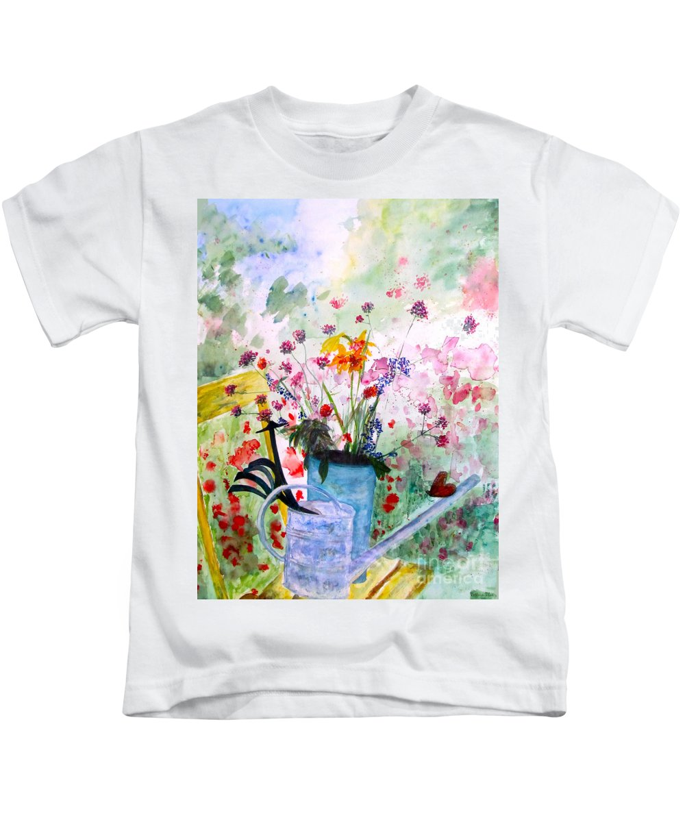 Butterfly Kids T-Shirt featuring the painting The Resting Place by Beth Saffer