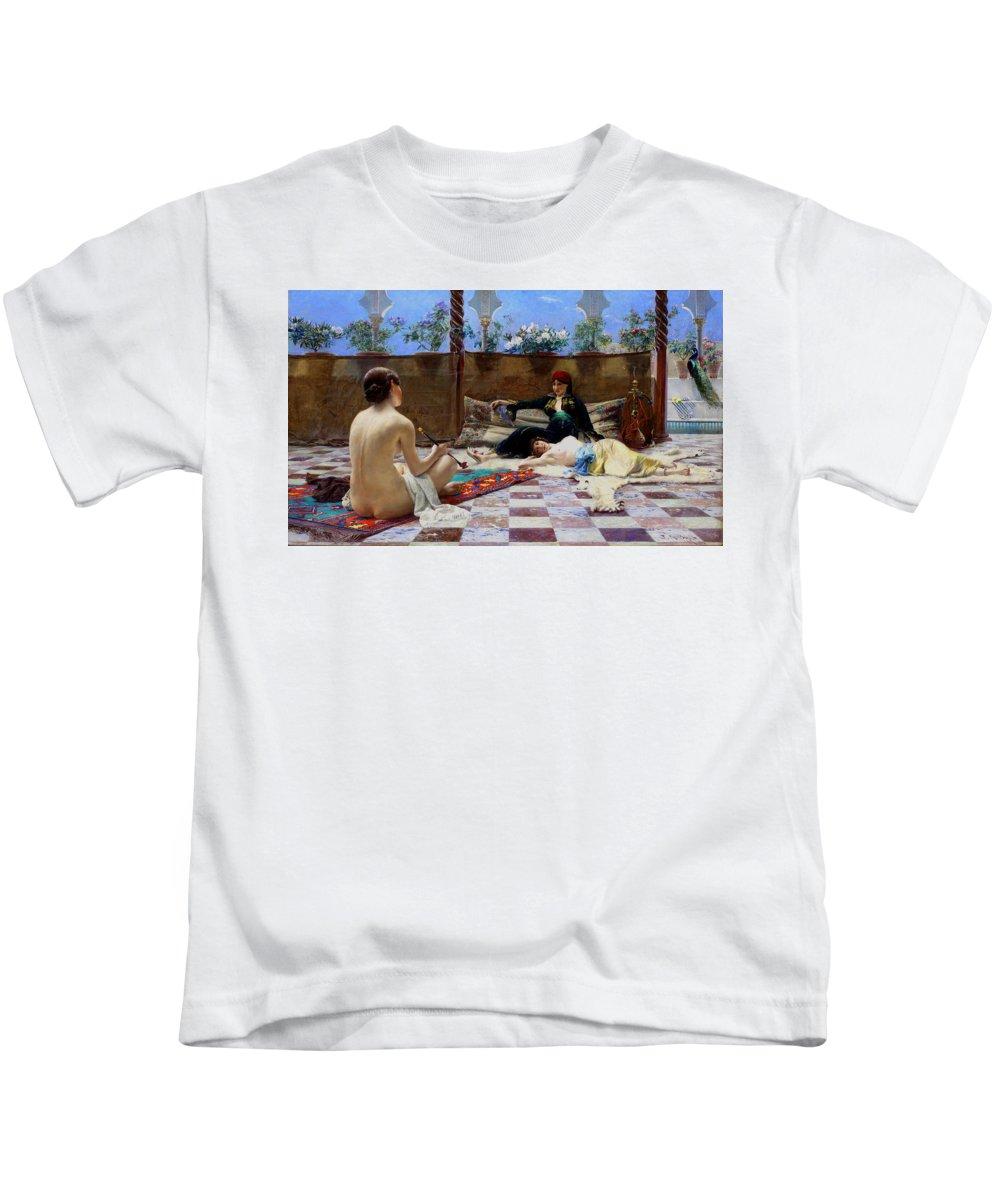 Ferdinand Max Bredt Kids T-Shirt featuring the painting Turkish Women by Ferdinand Max Bredt