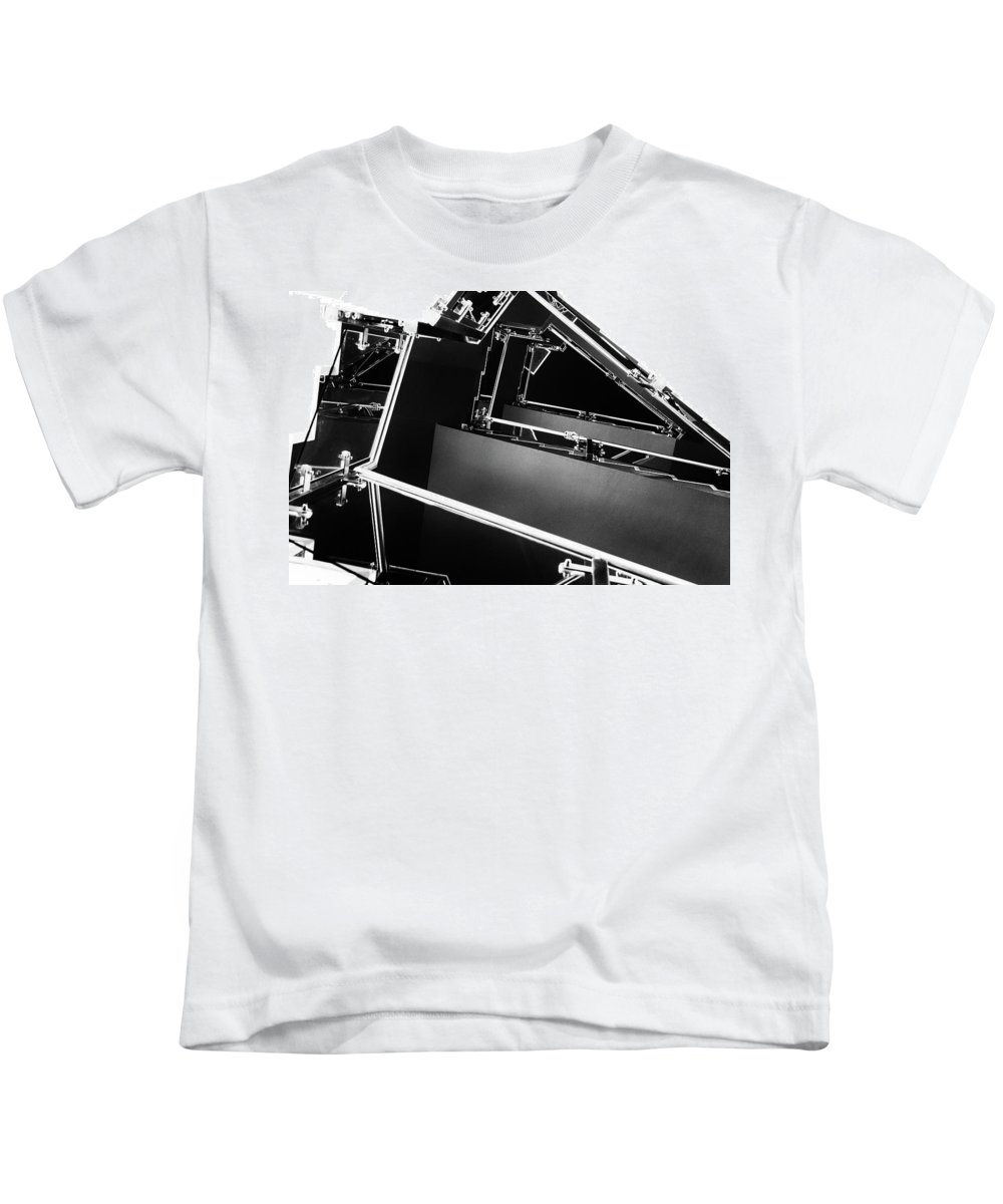 Staircase Kids T-Shirt featuring the photograph View From Below 1 by John Williams