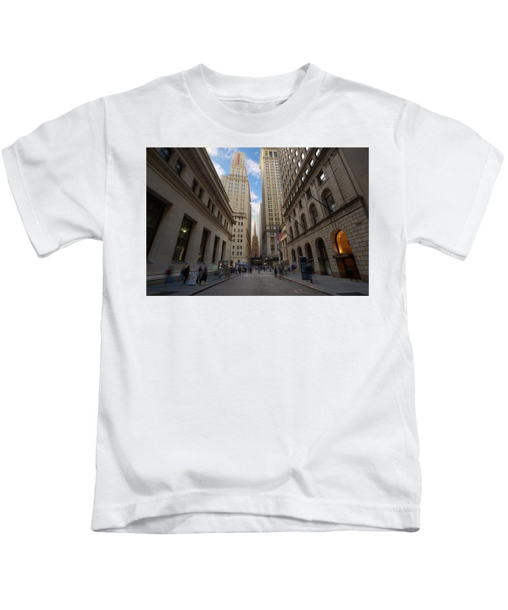 Wall Street Kids T-Shirt featuring the photograph Wall Street by Brian Knott Photography
