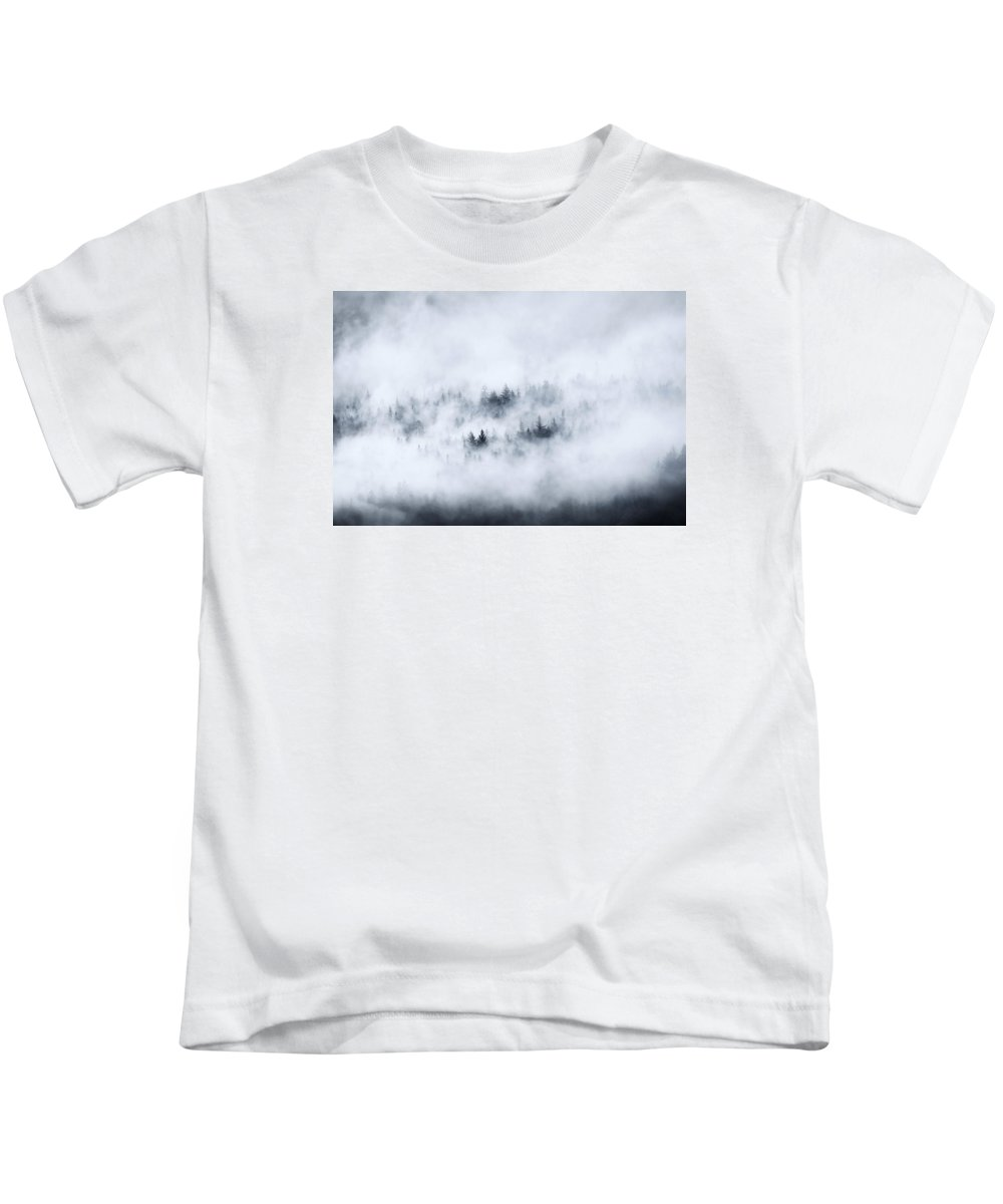 Fog Kids T-Shirt featuring the photograph Winter Dawning by Mike Dawson