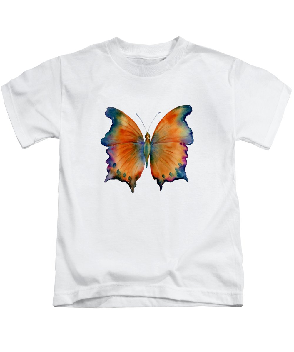 Wizard Butterfly Kids T-Shirt featuring the painting 1 Wizard Butterfly by Amy Kirkpatrick