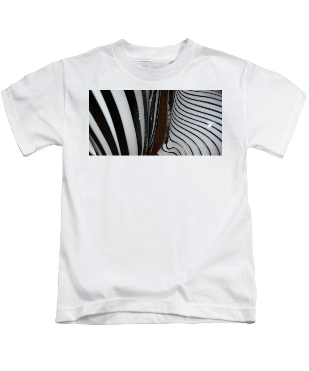 Blac Kids T-Shirt featuring the photograph Zebra Glass by Maria Bonnier-Perez