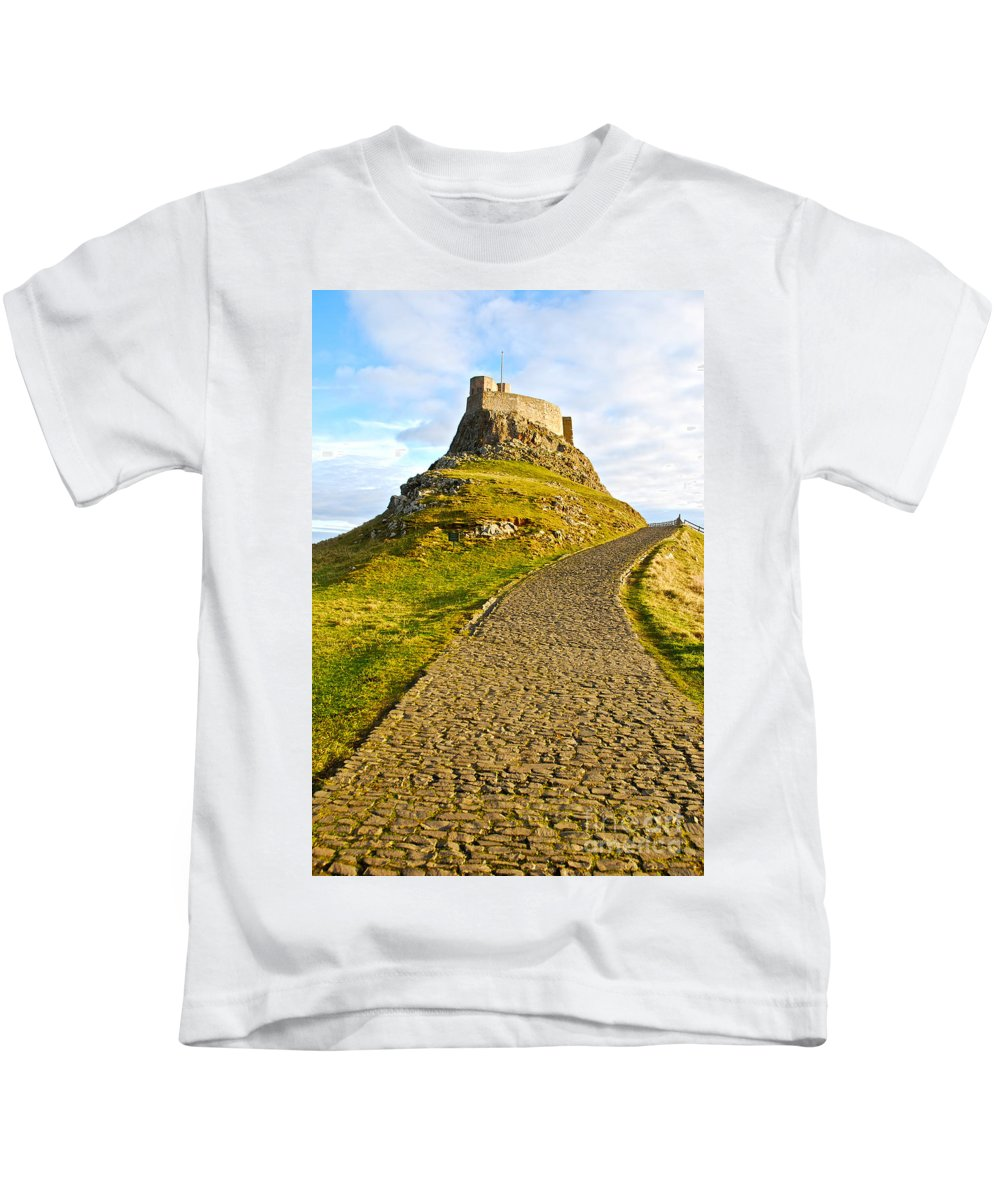 Lindisfarne Castle Kids T-Shirt featuring the photograph Lindisfarne Castle by Kayme Clark