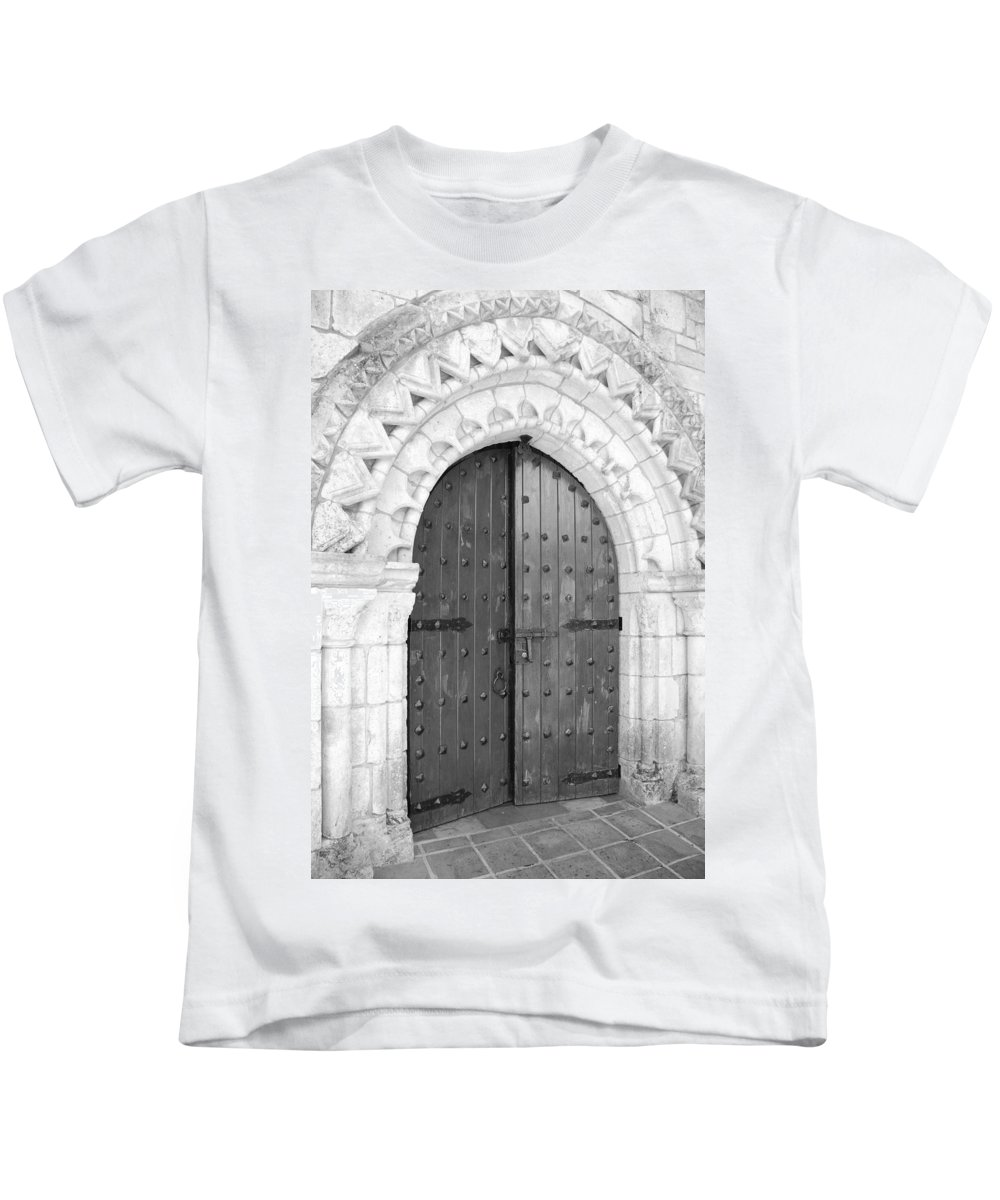Wooden Doors Kids T-Shirt featuring the photograph Miami Monastery by Rob Hans