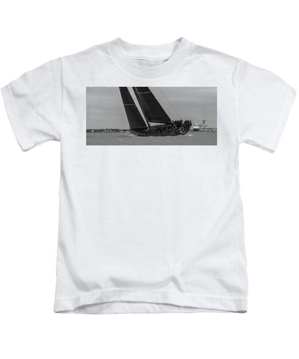 Key Kids T-Shirt featuring the photograph Key West Race Week by Steven Lapkin