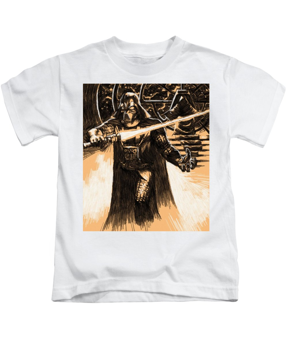 Star Wars Kids T-Shirt featuring the digital art Star Wars Characters Poster by Larry Jones