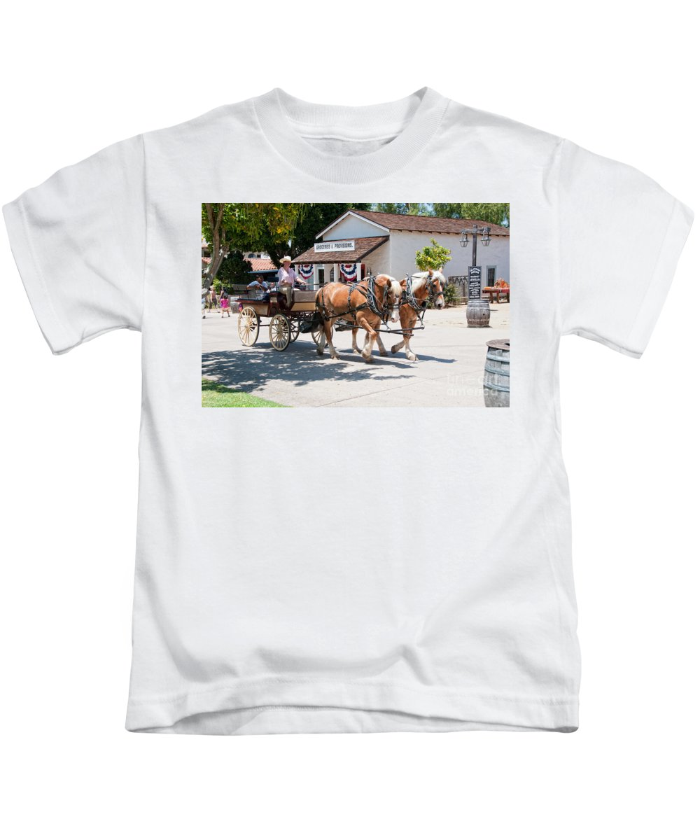 Animals Kids T-Shirt featuring the digital art Old Town San Diego by Carol Ailles
