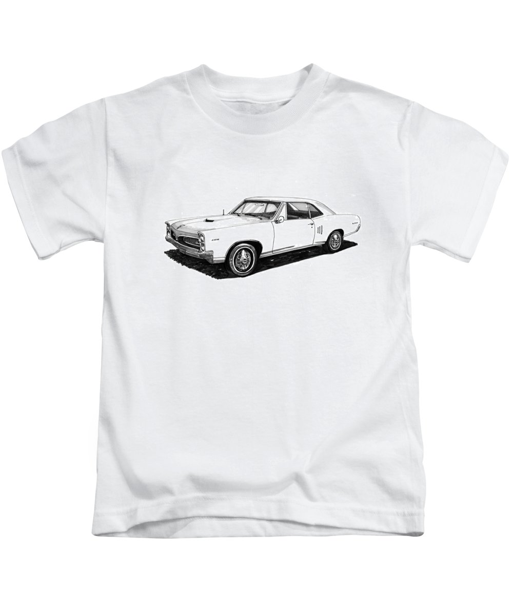 1967 Kids T-Shirt featuring the painting 1967 Pontiac Gto by Jack Pumphrey