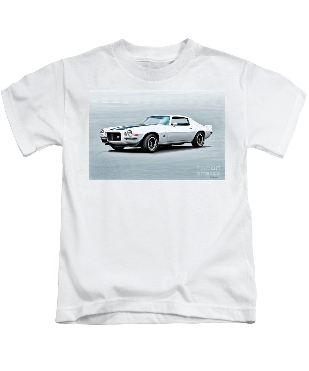 Automobile Kids T-Shirt featuring the photograph 1970 Chevrolet Camaro Z28 by Dave Koontz