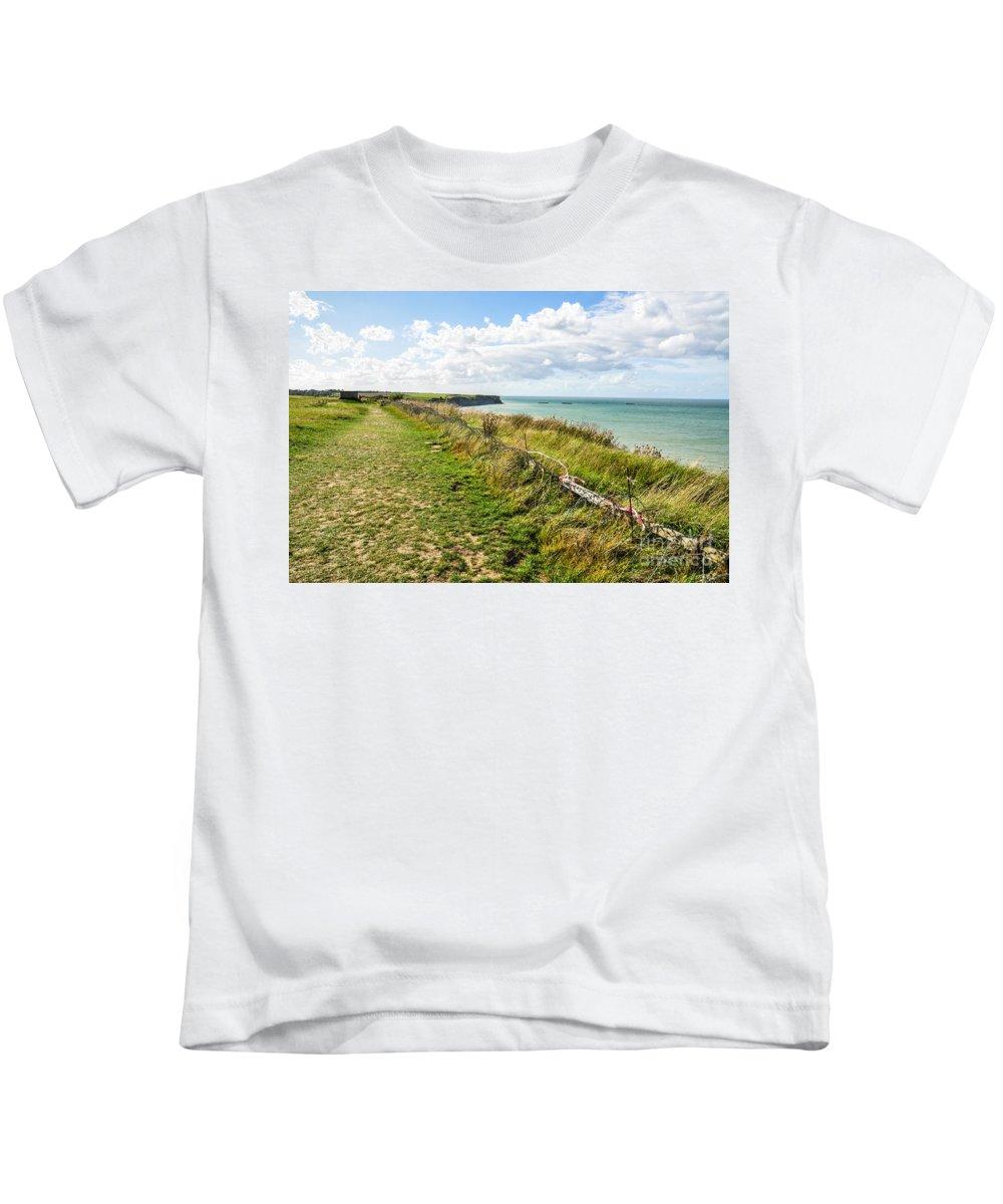 Arromanches Kids T-Shirt featuring the photograph Arromanches 360 by Kayme Clark