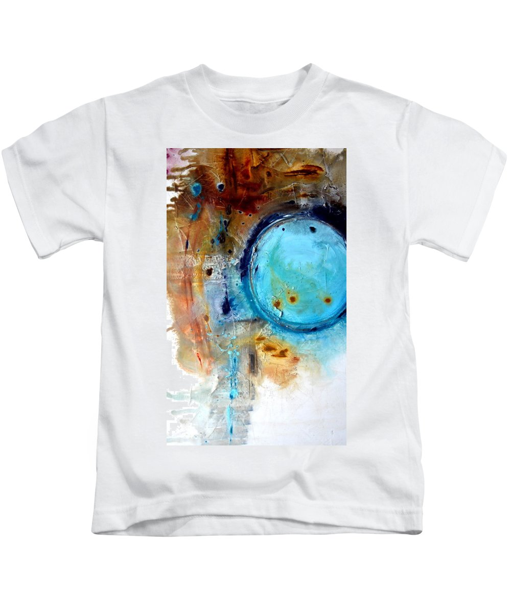 Kids T-Shirt featuring the mixed media Blue Sky by Ivan Guaderrama