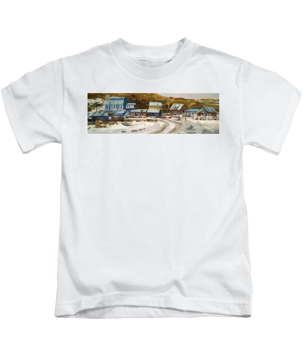 Ghost Town Kids T-Shirt featuring the painting Bodie California 1979 by Donald Maier