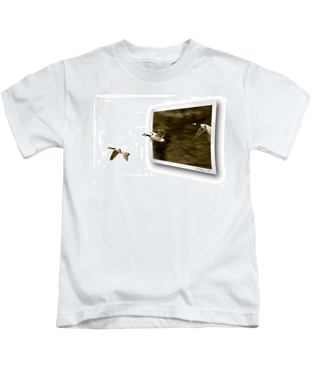 2d Kids T-Shirt featuring the photograph Follow The Leader by Brian Wallace