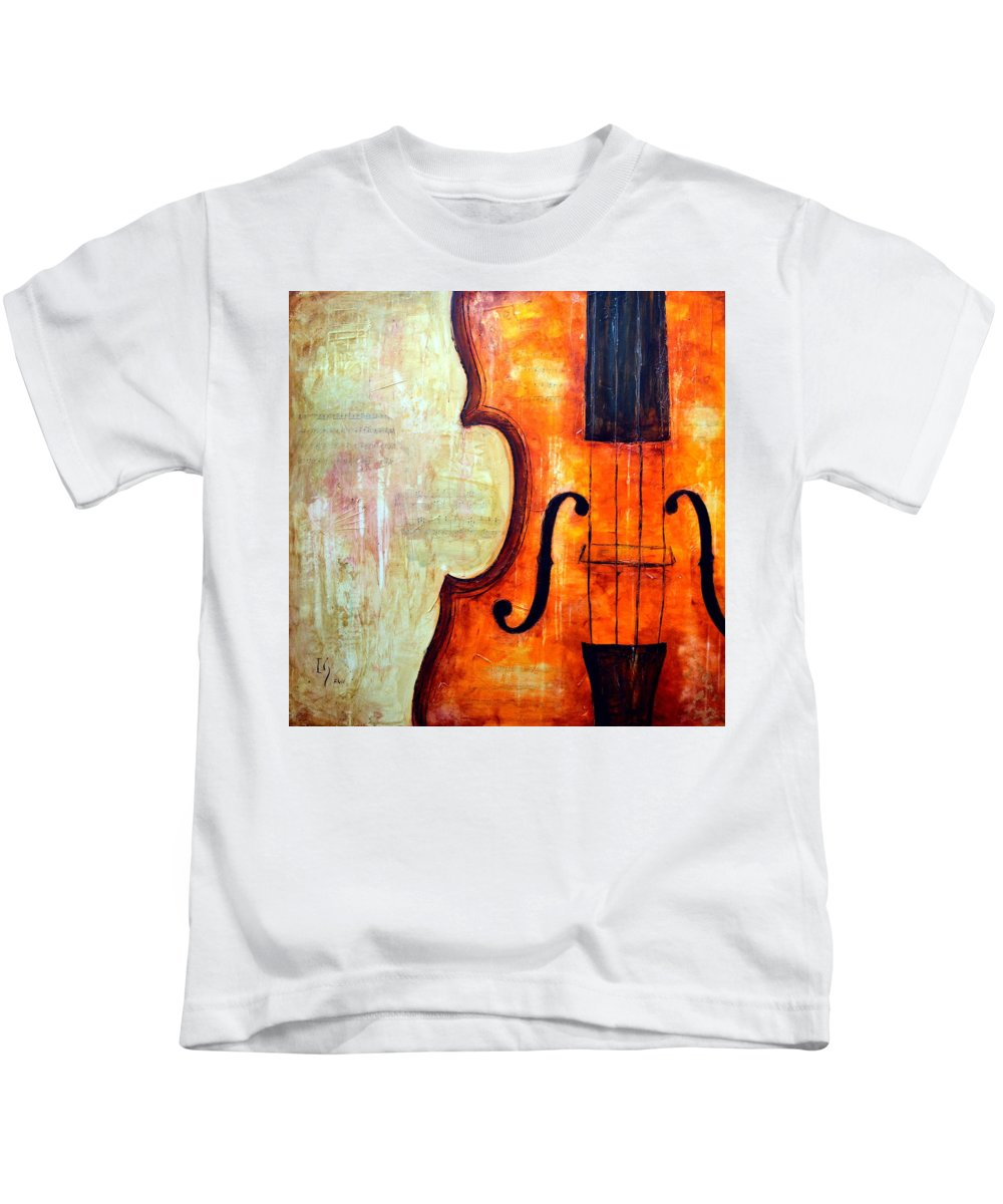 Music Kids T-Shirt featuring the painting Follow Your Dreams by Ivan Guaderrama