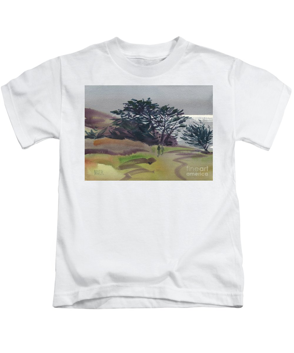 Plein Air Kids T-Shirt featuring the painting Miramonte Point 1 by Donald Maier