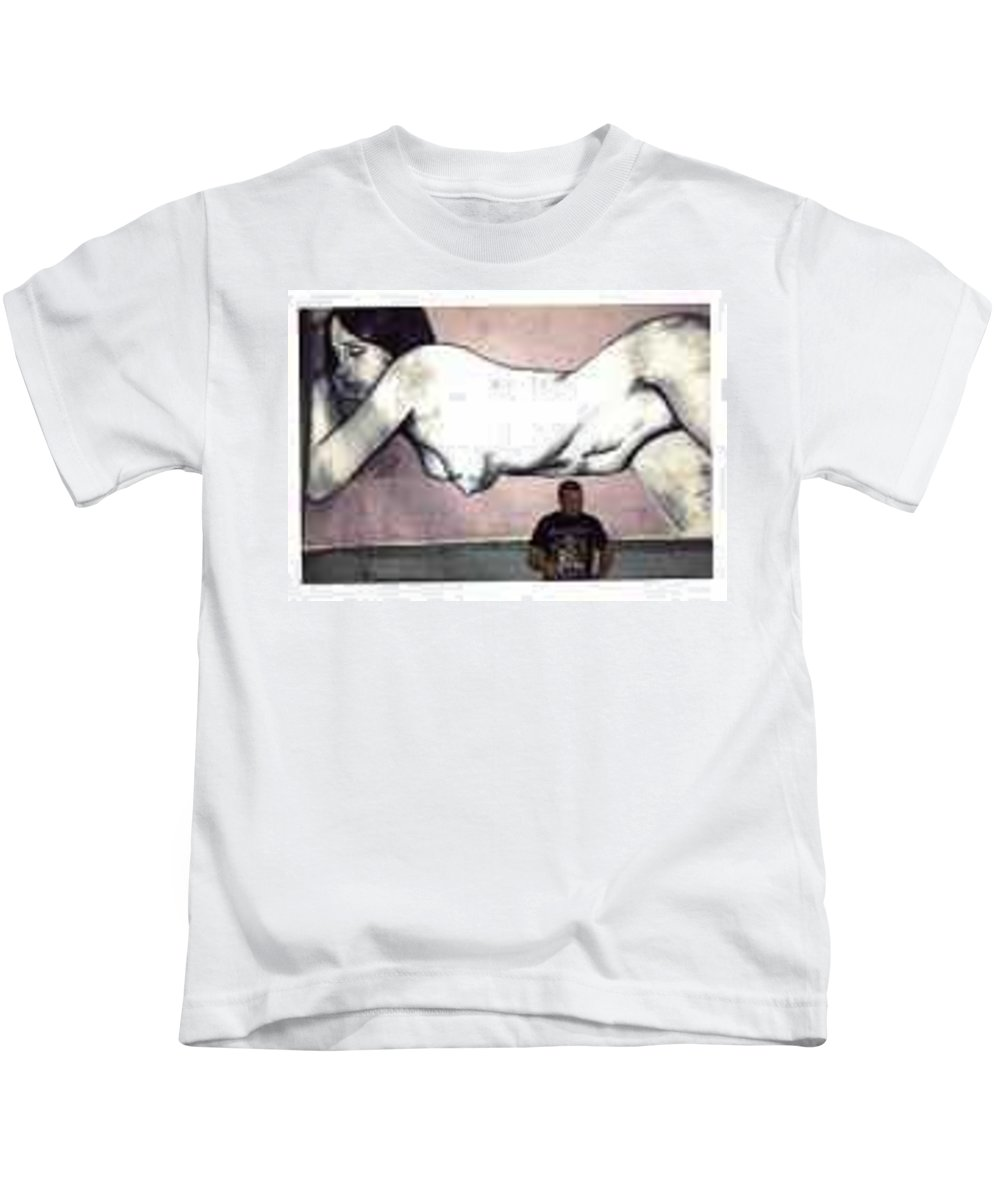 Nude Kids T-Shirt featuring the painting Missy by Thomas Valentine