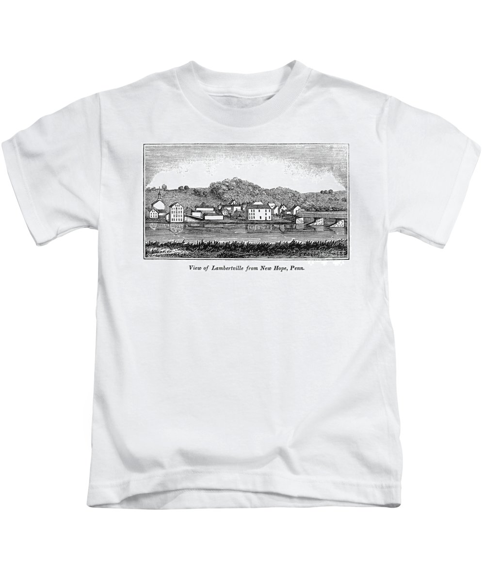 1844 Kids T-Shirt featuring the photograph New Jersey, 1844 by Granger