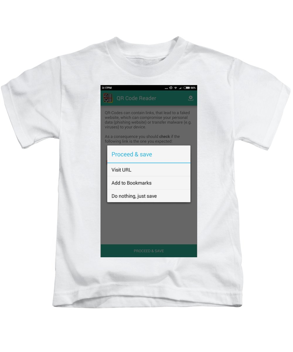 Qr Code Reader Kids T-Shirt featuring the mixed media Qr Code Reader by Smart Tool World