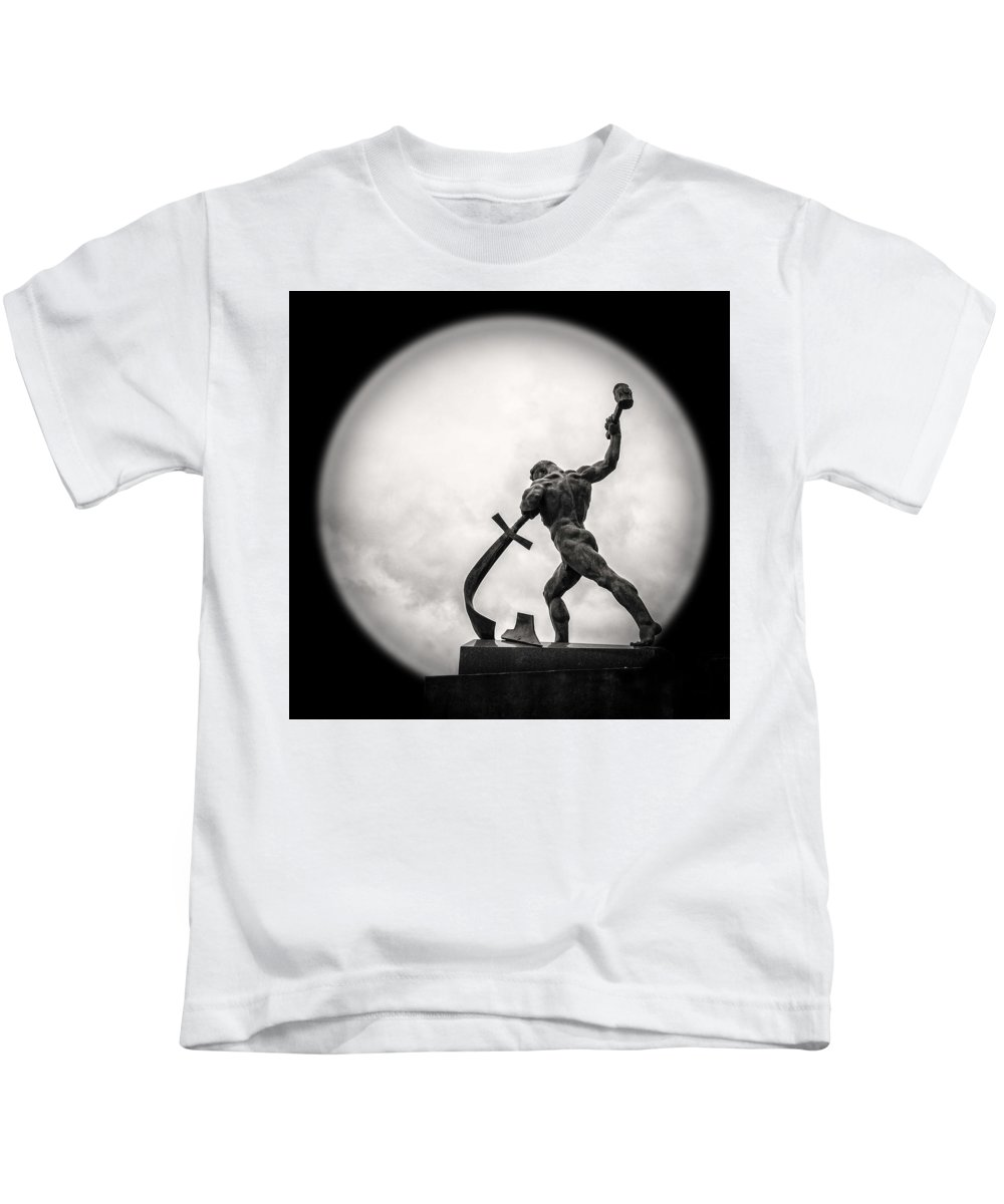 Sculpture Kids T-Shirt featuring the photograph Swords Into Plowshares by Sergey Ivanov