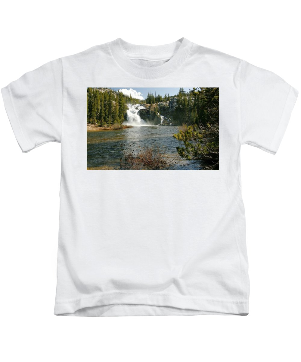 Waterfall Kids T-Shirt featuring the digital art Waterfall by Dorothy Binder