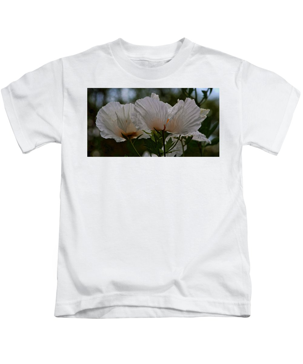 Floral Kids T-Shirt featuring the photograph White Poppy by Daniel Unfried