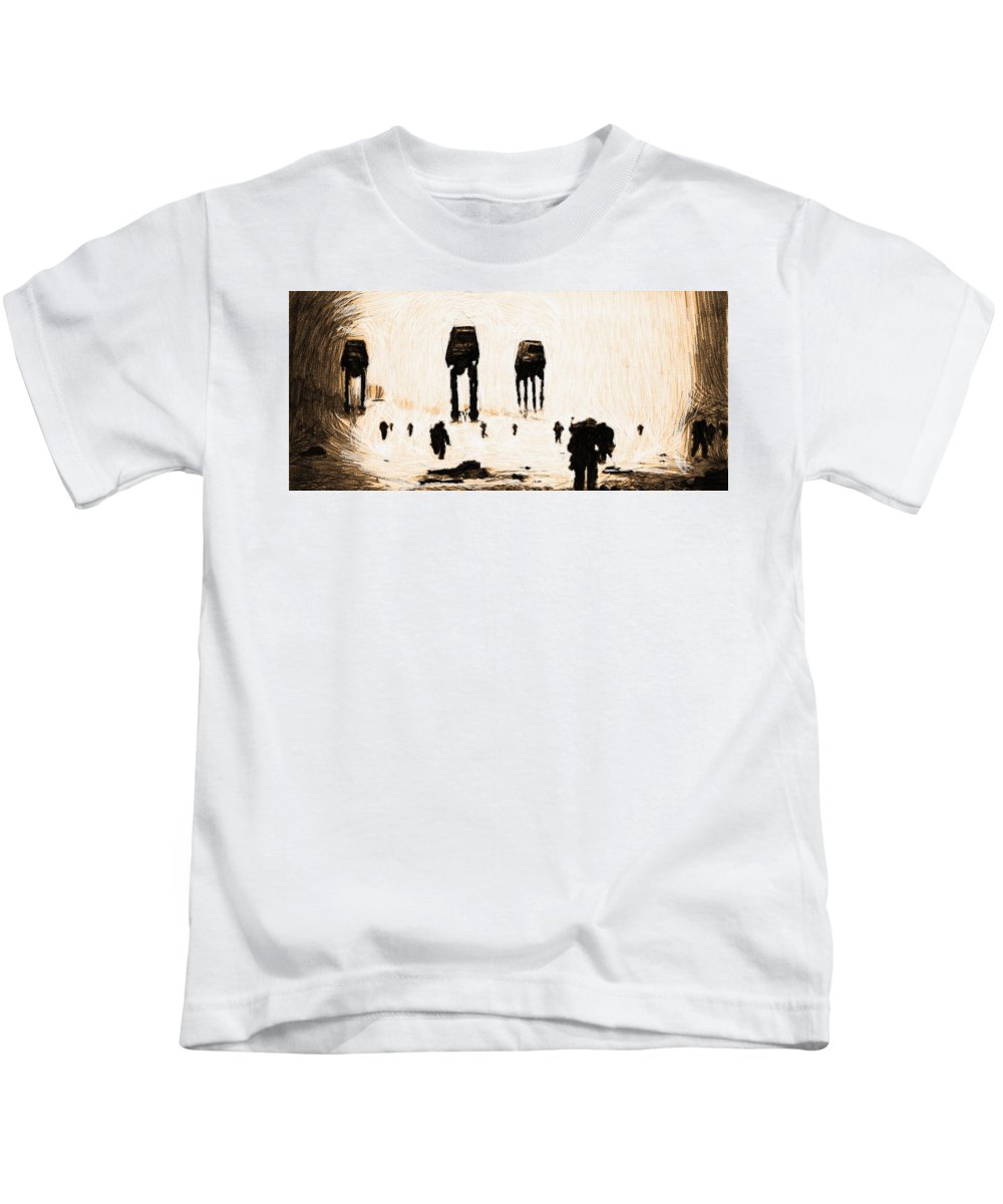 Star Wars Kids T-Shirt featuring the digital art Star Wars Print And Poster by Larry Jones