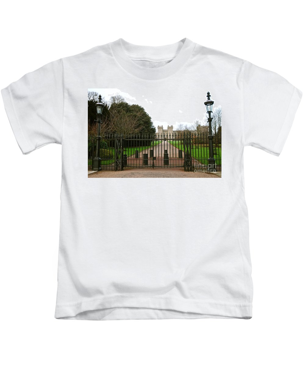 Windsor Castle Kids T-Shirt featuring the photograph Windsor Castle by Kayme Clark