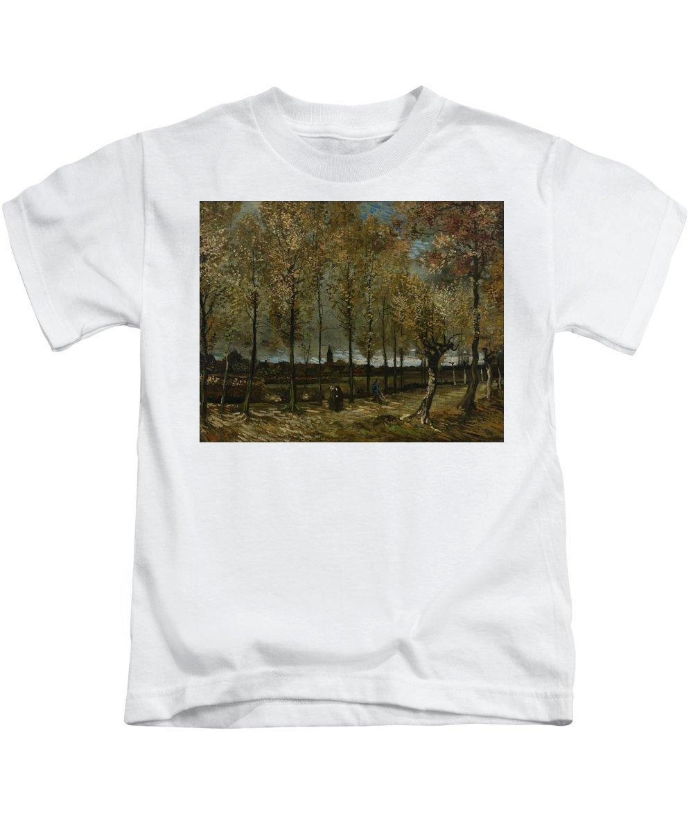 Van Gogh Kids T-Shirt featuring the photograph Poplars Near Nuenen by Vincent van Gogh
