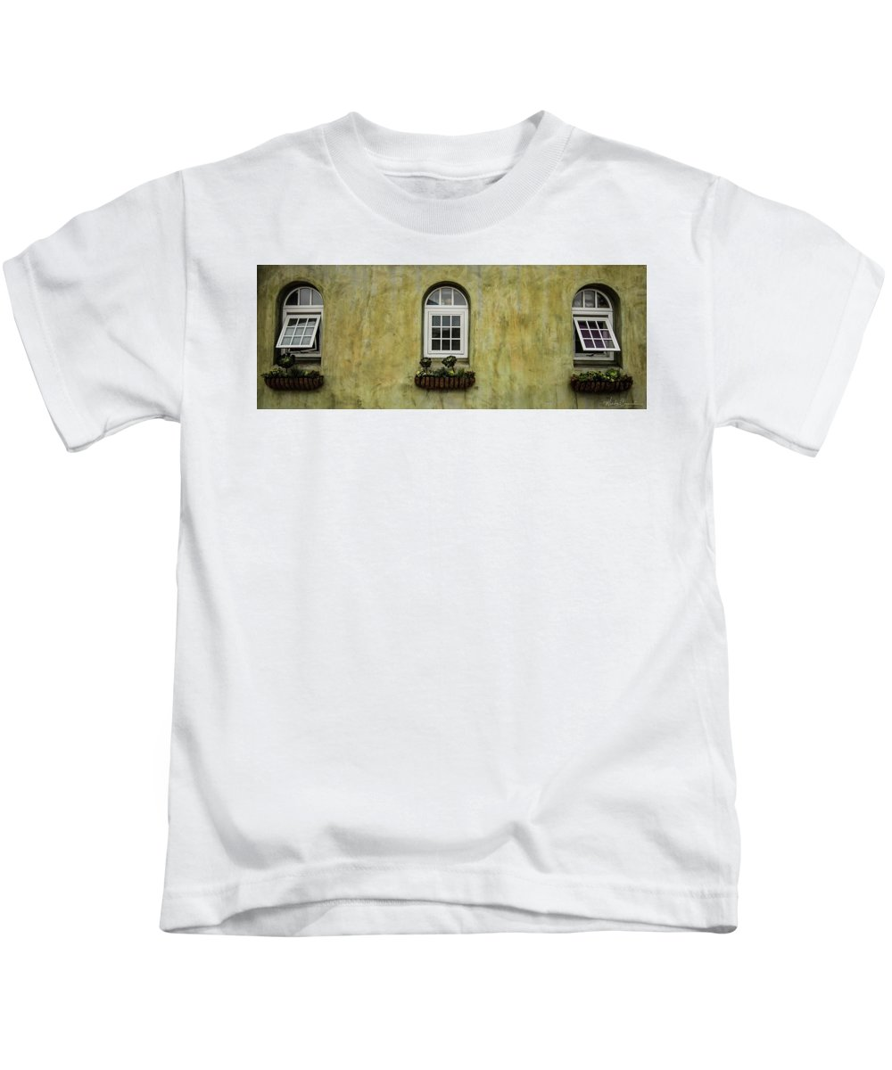 Kids T-Shirt featuring the photograph 3 Windows by Wendy Carrington