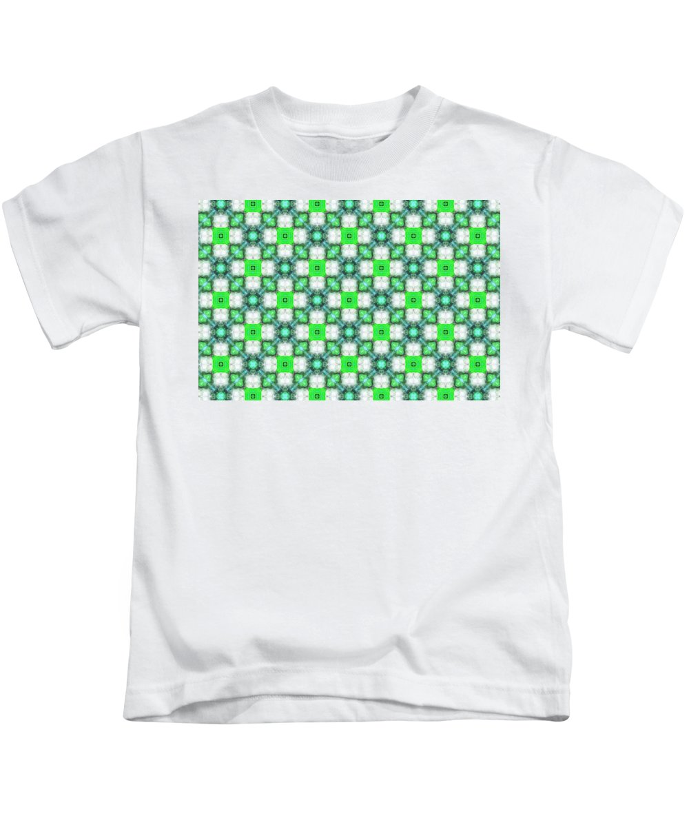 Marjan Mencin Kids T-Shirt featuring the digital art Arabesque 095 by Marjan Mencin