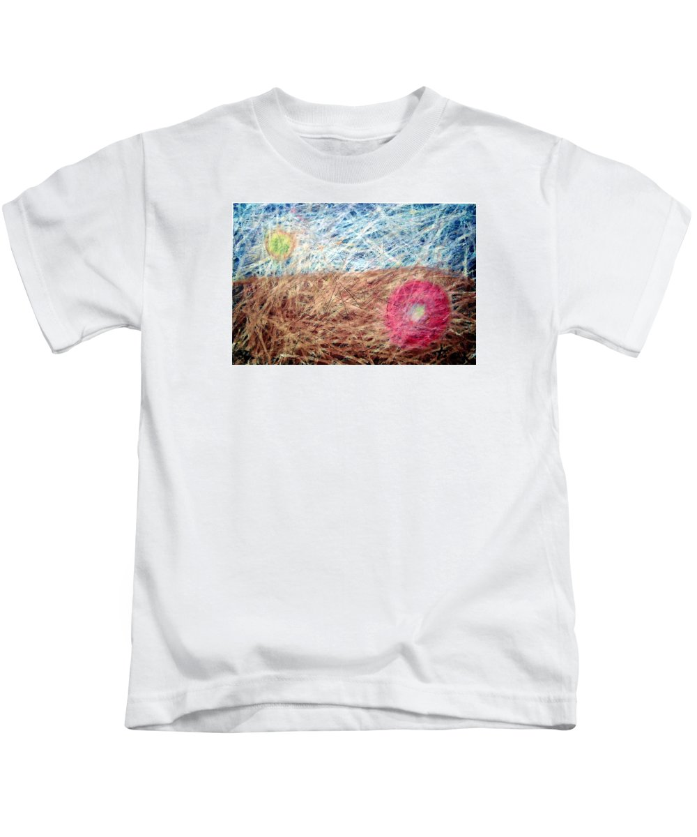 Kids T-Shirt featuring the painting 36 by Terry Wiklund