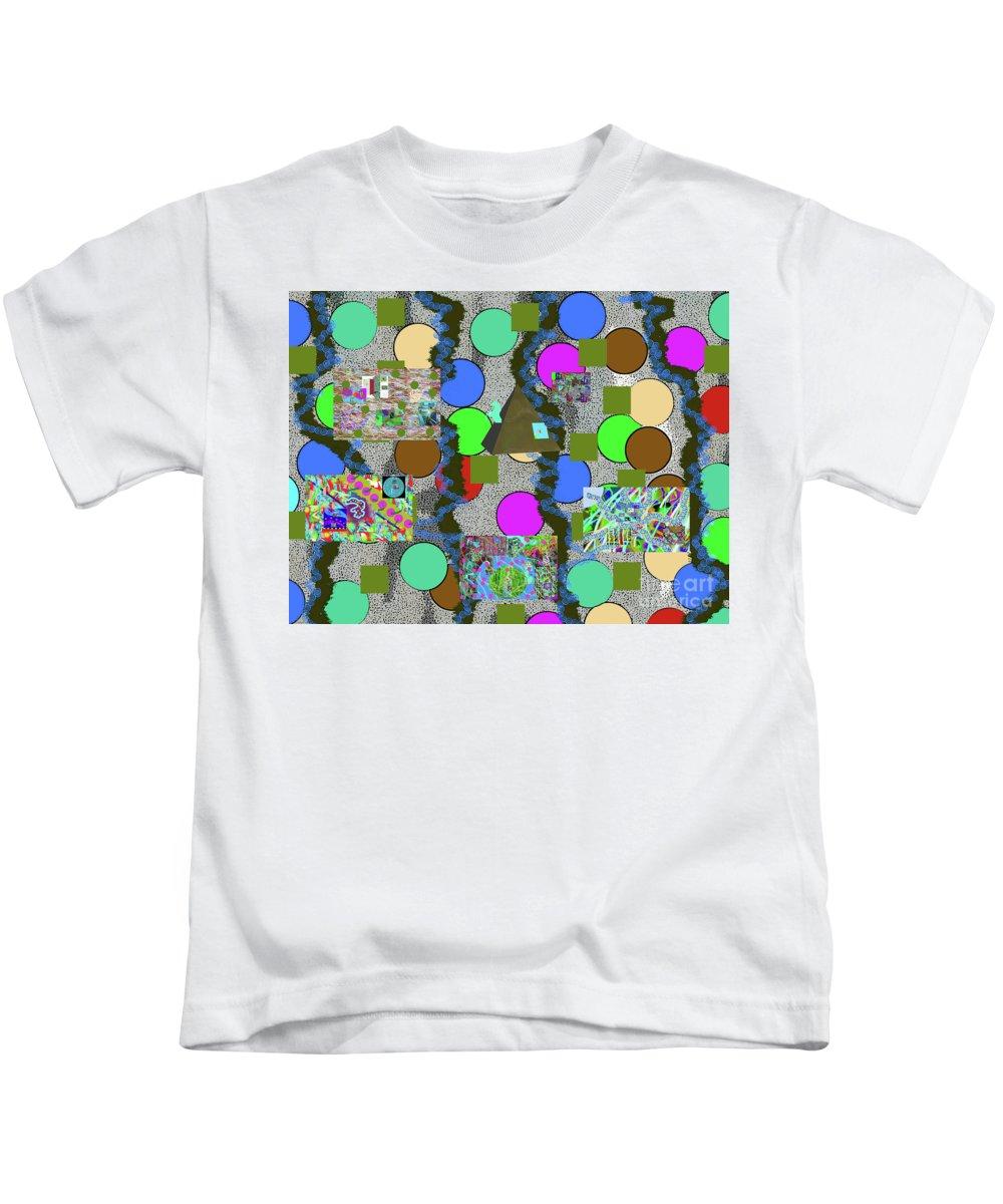 Walter Paul Bebirian Kids T-Shirt featuring the digital art 4-8-2015abcdefghijklmnopqr by Walter Paul Bebirian