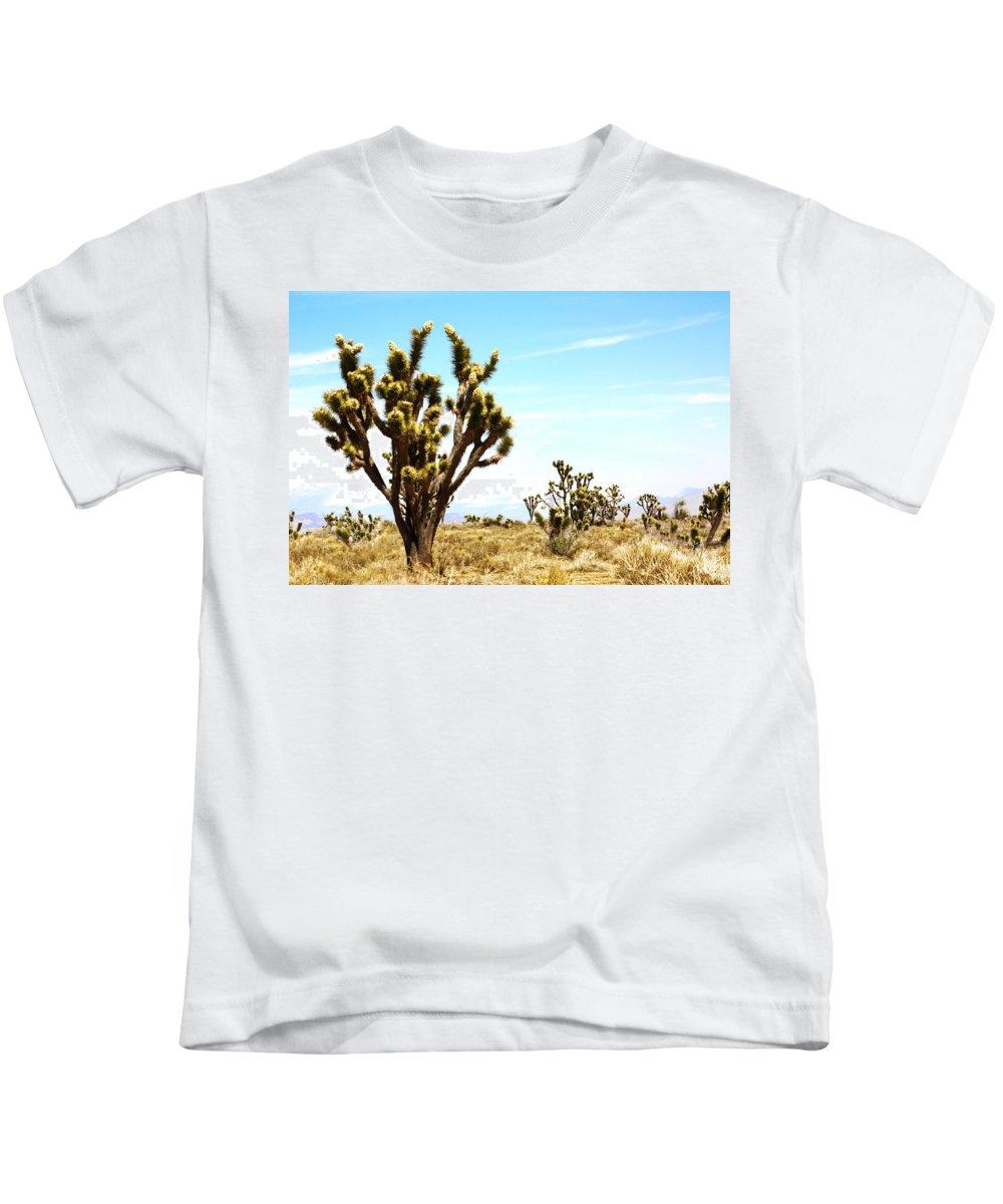 Desert Life Kids T-Shirt featuring the photograph Joshua Tree Desert by Gravityx9 Designs