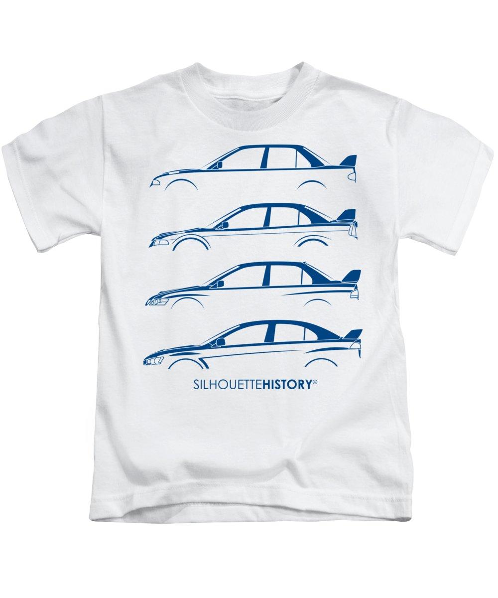 Rally Kids T-Shirt featuring the digital art Triple Diamonds Silhouettehistory by Gabor Vida